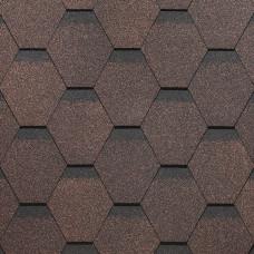 Гибкая черепица Docke Standard Сота Коричневый (3м²)